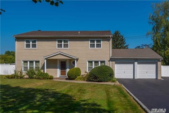Huge Colonial, On Half Acre Plus In Harborfields Sd#6! Huge Granite Kitchen, Updated Roof, Cac, Windows, Heating And More! Easy Access To Train, A Must See!