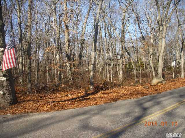 1+ Acre Of Residential Level Buildable Land Near To All The North Fork Has To Offer, Build Your Perfect Retreat. Beautifully Wooded Short Stroll To Sound Beach.