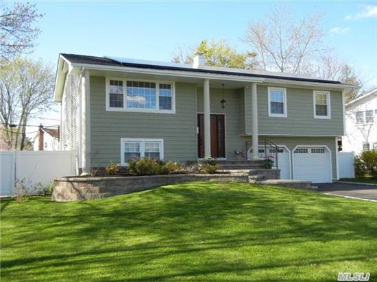 Diamond Home Features A Granite Eik W/Ss Appliances, 2  New Baths( 1 W/Sauna)& Shower For 2:),  Hw Floors, Crown Moldings, Gas Heat, Cac- Brand New Compressor, New Roof(1 Layer), New Gutters, Vinyl Shakes, New Front Door, Updated Windows,  New 200 Amp Elec,  Brand New Paver Walkway, New Trex Deck, New Paver Patio W/Fire Pit, New Driveway W/Belgium Block, Pvc Fence, Solar Panels & Igs!