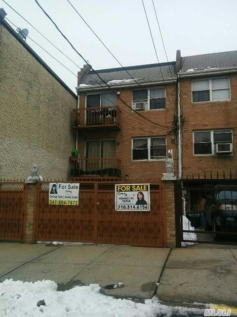 3 Family Property. Basement:  Full Finished.  1st Fl: 1 Bedroom,  Living Room,  Kitchen,  Full Bath.  2nd Fl: 2 Bedrooms,  Living Room,  Dining Room,  Kitchen,  Full Bathroom,  Balcony.  3rd Fl: 2 Bedrooms,  Living Room,  Dining Room,  Kitchen,  Full Bathroom,  Balcony. All Information Deemed Reliable,  Buyer Should Reverify All Information On Their Own.