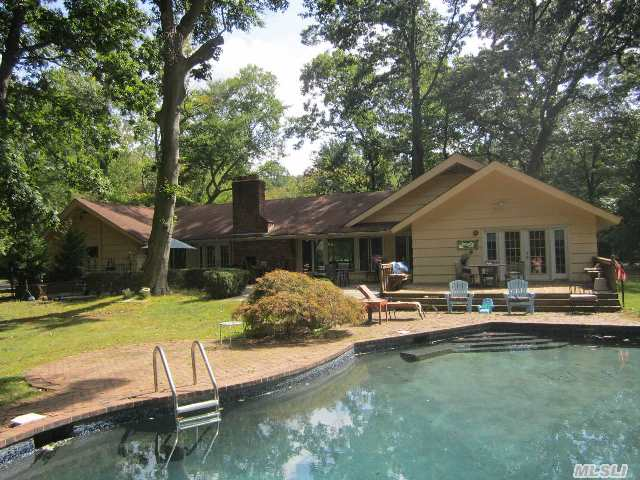 5 Bedroom Ranch With Open Floor Plan. 2.04 Acres With In Ground Pool And Deck. House Sits On Beautiful Usable Property.