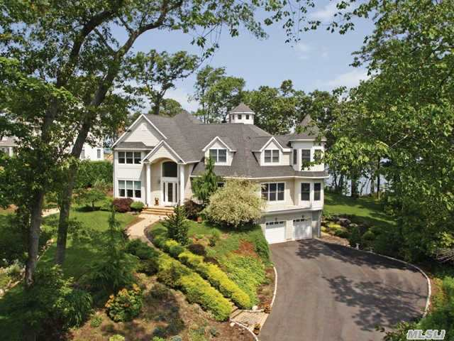 Custom Built Waterfront Home Boasts Breaktaking Panoramic Views Of Ct & The Li Shoreline From Every Room. Located In Historic Wading River Within The Prestigious Crescent On The Sound Community; Gateway To Long Island Vineyards. 4200 Sq Feet Open Floor Plan. 2X6 Construction Nestled On 2 Parklike Acres. Your Dream Home Awaits You. Don't Miss This Great Opportunity.
