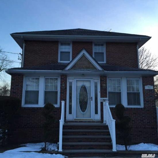 Solid Brick 2 Fam 2 Over 2 With Finish. Bsmt Big Property For 6 Car Garage