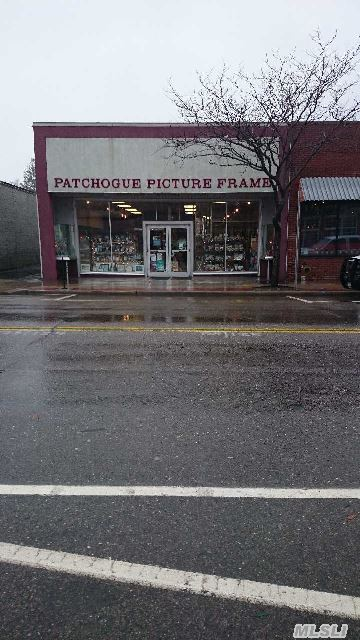 Patchogue Is Hot......This Is Right In The Heart Of The Action...Front Section Is Store Front,  The Rear Has 20' Ceilings And An Over Head Door. There Is A Full Basement. The Building Is In Very Good  Shape