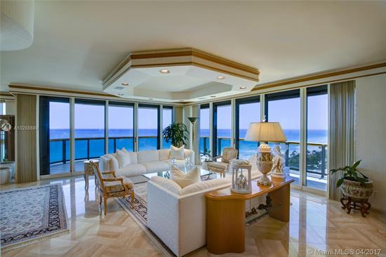 Panoramic, Unobstructed Direct Ocean & City Skyline Views Are A Signature Feature Of This Wrap Around, South- East Corner Residence Nestled On The 14 Floor Of The Premier Ocean Front Bal Harbour Tower. Accessed By Private Elevator This 3, 500 Sq Ft Apartment Is Set Up As Expansive One Bedroom Suite With Spacious Den / Sitting Room & Two Over-Sized Walk-In Closets. Total Of 3.5 Baths. Conveniently Separated Staff Quarters. Open Concept Main Living Areas With Breathtaking Views Of Atlantic Ocean Seamlessly Incorporate Spacious Terraces With Interior Living & Family Rooms, Bar & Formal Dining. A Choice Location Building Within Walking Distance To Bal Harbour Shops Offers Top-Notch Services Including Renowned Private Restaurant, Concierge, Pool & Beach Service, Fitness &Valet.