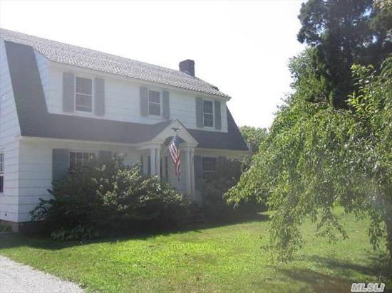 This Charming 1930'S Dutch Colonial Is Located In The Heart Of Southampton Village. The 1st Floor Accommodates, Eik, Formal Dr, Lr W/Fplc , 1/2 Bath & Full Basement. 2nd Floor Boasts 4 Bdrms & 1 Full Bath. The Backyard Offers Plenty Of Room For A Pool & Separate 2 Car Garage W/Workshop. With Exceptionally Low Taxes And Just Minutes From Town, Don't Miss This Opportunity.
