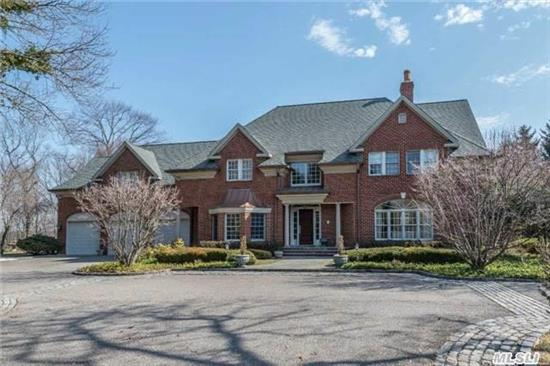 Custom Built W/French Country Decor & Charm, Grand 2-Story Entry, High Ceilings, Raised Paneling, Large Eik W/Prof Appliances Open To Great Rm, Large Master Suite W/Gym & 2 Fp's, Separate Guest/Au Pair Wing W/2Br's & Full Bth, Antique Fixtures, An Incredible Bsmt !Built By D Stokkers, Pool & Landscape By Kean, Expansive Brick Patios W/Pool;Wonderful Winter Water Views..