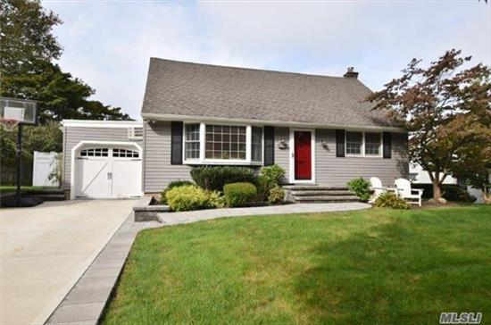 Wonderful Well Maintained Cape In N Syosset. Updates Include Eik W Granite Counter Top, 2 Fully Tiled Baths. New Siding, Windows & Driveway. Hardwood Floors Throughout. Newly Finished Basement. Custom Pavers Walkway, Steps And Patio. Full Fenced Yard. Walk To Syosset Lirr & Town. Convenient To All, Low Taxes. Must See!!!