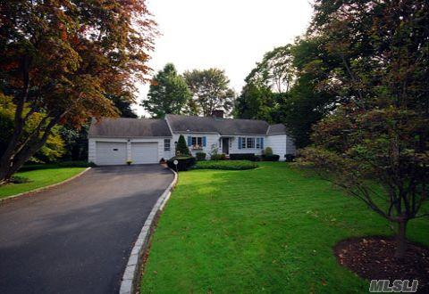 Well Known Architect Walter Uhl Designed This Bright And Sunny House Thats Situated In Flower Hill On 1/2 An Acre Of Lush Beautifully Landscaped Property.Formal Lr & Formal Dr, Hardwood Floors Throughout The House,Open & Spacious Layout.Perfect As A Starter Home Or For Expansion.Great Location In Desireable Country Club Area Of Port Wash. Pw Train Sticker. Must See.