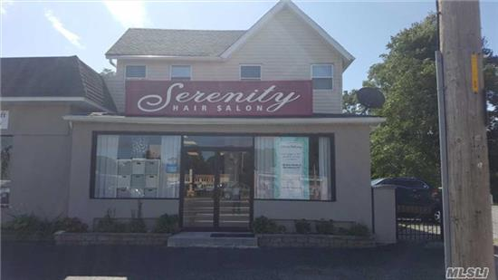 Prime Location On Busy Middle Country Road, Previously A Hair Salon, Can Be Used For Any Retail Or Office Business, Highly Visible, Lots Of Parking, 1000 Sq. Ft. 1 Bathroom.
