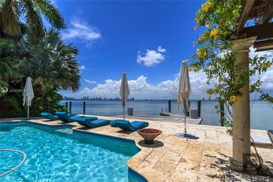 Welcome To Vila Paraiso In Miami Beach, A Magnificent Waterfront Estate Situated On The Sparkling Waters Of Biscayne Bay. This Gated Mansion Is A Private Oasis With A Timeless And Elegant Georgian-Inspired Design. Featuring Impeccable Architectural Detail S And Craftsmanship With Superb Materials And Elegant Finishes, This Waterfront Estate Is One Of The Finest Properties On The Prestigious Bay Road In Miami Beach. Comprising 8, 148 Sf. 6 Beds, Theatre, 5000 Bottle Wine Room, 6 Full & 2 Half Bath.