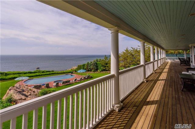 Classic Hampton Style Home On 20 Plus Acres, Unique Views Of Li Sound And Farmland, Expansive Porches In Front And Rear, Lush Landscaping, Mint Interior, Beautiful Mill Work, Central Vac, Exterior Lighting, Separate Bbq Area, Brick Patios, Infinity Pool And Jacuzzi, Wood Burning Fireplaces And Gas Fireplace, Perfect Family Retreat And Entertaining Home.