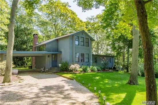 Custom Home On Highly Sought After Eastpond Lane In Eastport. With 3 Bedrooms, 2.5 Baths, Living Room With Soaring Vaulted Ceiling, Fireplace, And Situated In A Park Like Setting This Home Will Surely Not Be Available Long.