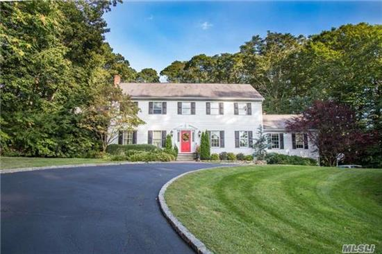 Fabulous Large Center Hall Colonial With 5 Br, 3.5 Bth, Library/Study, Custom 4 Season Rm W/ Radiant Heated Flr, Granite Kitchen, Great Rm W/Fpl, 1st Flr Guest Suite, Country Club Yard W/Igp. Private Setting At End Of Cul-De-Sac! Located Near Huntington Marinas, Town, Beaches And Parks!