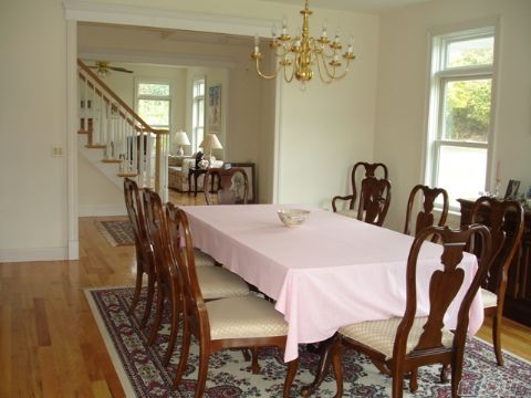 Oversized formal dining room, open floor plan, bright and sunny rooms, Marvin