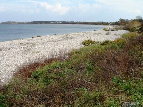 Expansive private Sound beach stones throw away