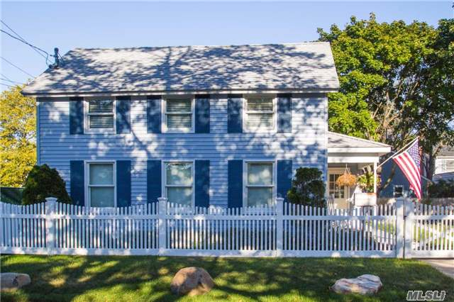 Beautifully Updated 3 Bedroom Cape, Master Suite On First Floor, Wood Floors, New Roof, Large Fenced Yard With 2 Large Garages, R&L Well Drilling Property. Ideal Use For Car Collector, Landscaper, Tree Service, Etc. Subject To Town Approval.