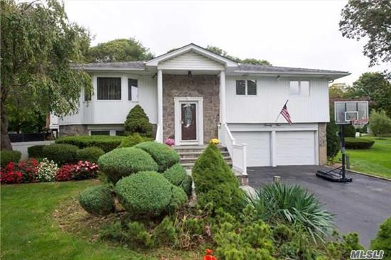 Commack/Hauppauge Sd6-Low Taxes-Large Home For Extended Family With Walk Out First Level To .45 Acre Meticulously Maintained Grounds With A/G Pool/Pond,  Pvc Fencing,  New Bath/Heating Unit/Deck,  Master W/Bath,  + 4 Addl Bedrooms,  2 Addl Full Baths, Great for Extended Family; Convenient To Parkways /Shopping/Restaurants/Beaches/Pines Elementary School;Taxes 11246.66 ($10,531.91 with Basic Star)