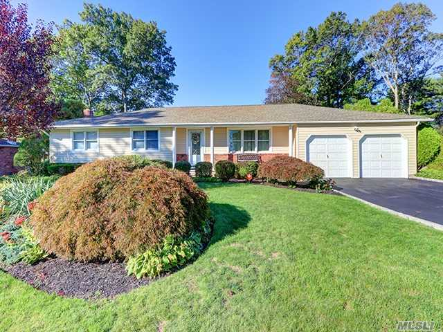 Prime Location!!! Charming Spacious Ranch!! Updates Galore!! Eik, Fdr, Flr, Lrg Famrm W/Fp, Mbr W/Bath, 2 Add'l Bfs, Updated Roof, Siding, Windows, Electric & Cac, Hwflrs, Igs, Igpool- Steel Wall /New De Filter/Pump 3 Years Old, Beautiful Paved Patio, Smithtown Schools #1 Easy Show!! Move Right In
