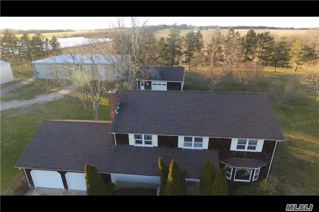 House, Farm & Vacant Lots! 5 Bedroom Colonial On 3+ Acres With Attached 2 Car Garage, 1 Detached Garage, 3 Large Barns, 6 Grain Silos; 21+ Acres Of Drs Property; A 5 Acre Building Lot With Stunning Farm Views; 5 Acre Lot With Drs.