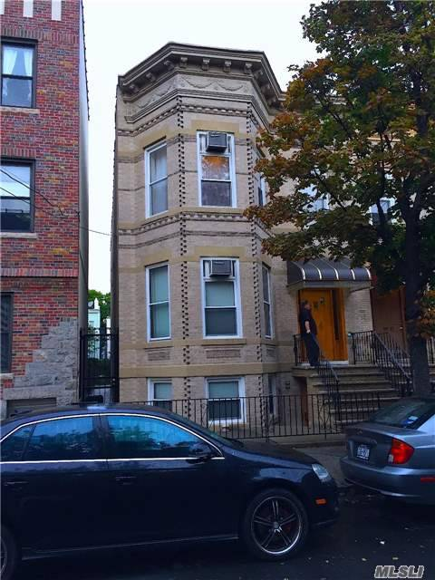 Beautiful 2 Family Semi Detach Home In The Heart Of Ridgewood Only One Block From Forest Avenue M Train Station. Large Private Yard. This Property Will Be Vacant On Title.