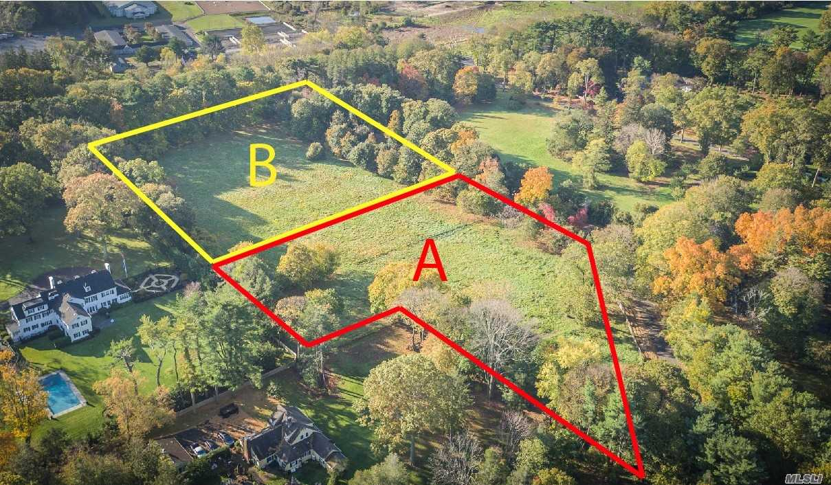 Ready To Build Fully Approved 3 Acre Land Parcel (Parcel B). All Flat And Private. Awaiting Your Custom Design For New Construction. Can Also Be Sold With Adjacent Land Parcel A Which Is Also 3 Acres. Easy Access To Major Roads And Minutes Away To The Lirr. Create Your Dream In The Estate Area Of Muttontown On The North Shore Of Long Island Just 27 Miles To Manhattan.