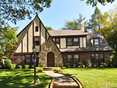 Fabulous Tudor On 80 X 100. Beautiful Family Home 4 Brs,  3 Baths + Md's Room/Office, Lr/Fp, Den + Formal Dining Room.  2-Car Garage In Heart Of The Estates. Best Value For Its Location + Potential! Don't Miss Out - Avoid The Spring Rush!!