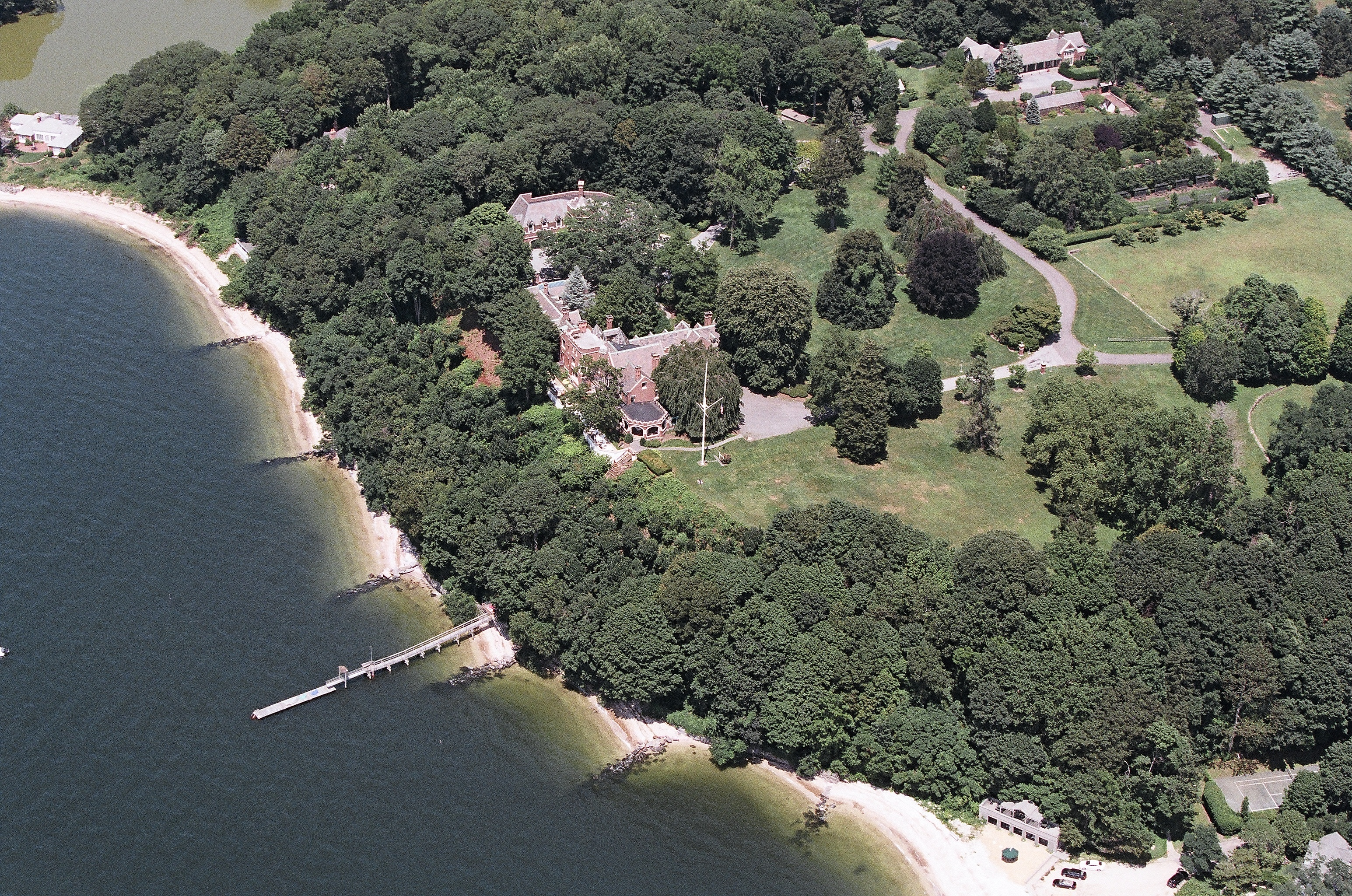 The Historical Waterfront Estate Is Nestled High On A Bluff Overlooking Cold Spring Harbor And Long Island Sound. It Encompasses Pver 10 Acres Of Unparalleled Property With 1800 Ft Beach Front With Dock. Lush Lawns, Squash Ct, Staff Quarters, 16 Car Garage, 3 Acre Formal Gardens And Much More. It Has Been Masterfully Restored To Its Original Glory. A True Gold Coast Gem!