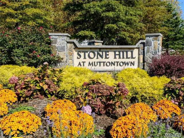A Wonderful Opportunity To Build In The Luxury Gated Community Of Stone Hill Muttontown. This Lot Is Beautiful Set In A Private Cul-De-Sac Deep In The Community. Club House, Tennis, Gym , Pool, 24 Hour Security Are A Few Of The Wonderful Amenities This Elegant Development Has To Offer. Come Build Your Dream!!!