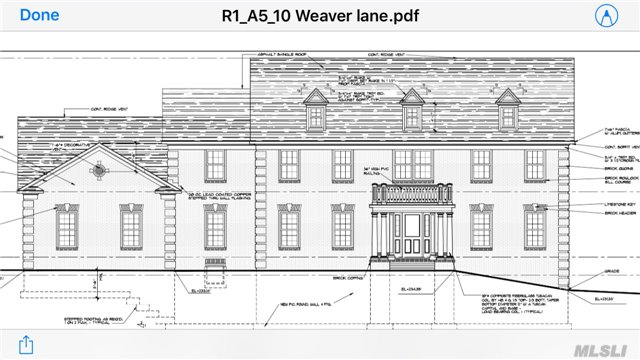 New Home Being Built On 1 Flat Acre Property In The Heart Of Dix Hills. Over 6 Thousand Sq Ft. Magnificent Castle! Master Craftmanship, 5 Br. 4.5 Bths. Open Layout, Amazing Crown Moldings, Tray Ceilings, Ceramic And Wood Floors 9 Ft Full Basement W/ Ose. Spacious Master Suite W/Jacuzzi Bth. Top Of The Line State Of The Art Kitchen. 3 Car Garage On A Flat 1 Acre Property.