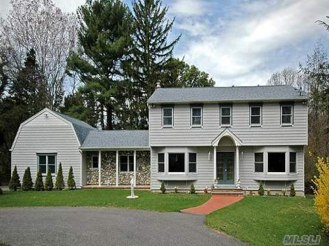 Private Sanctuary! Picturesque And Secluded Long Tree-Lined Circular Driveway Leads To This Completely Renovated Colonial Tucked Away On 2.65 Acres. Gourmet Kit W/Center Island, Granite Counters, Stainless Steel App And Custom Wood Cabinets. Designer Baths. Andersen Windows. Gleaming Hw Floors. Spacious Master Suite. Family Rm W/Fpl & Doors That Lead To Patio And Ig Pool.