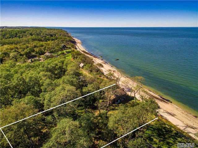 Simply Spectacular! Property Sits High On Bluff With 100 Ft. Of Breathtaking Open Long Island Sound Views And Beach Below. Sold As-Is. No Stairs. Cottage In Temporary Location And Not Habitable. Remediation Of Bluff Required To Allow For Building Stairs And For Construction Of New Residence Or Renovation Of Existing Cottage. Walking Distance To Goldsmith's Inlet Beach.