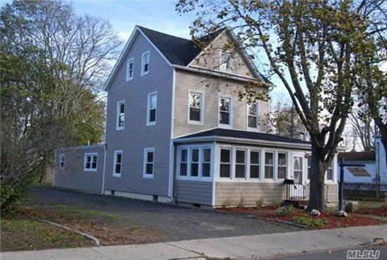 Stunning Victorian Colonial Completely Renovated, Closet O The Bay, Fire Island Ferries & Park, All New Kitchen With Granite And Upgraded Appliances, New Floors, Lighting, Bathrooms, Roof, Siding, Electrical, Windows And Much More! Remodeled Floor Plan Open And Offers Versatile Uses For Office And Other Rooms! Wrap Around Heated Porch!