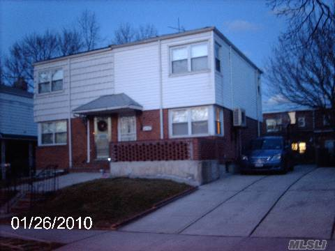 Lovely Single Family, Semi-Attached Brick Colonial In The Middle Of Fresh Meadows, Move In Condition.