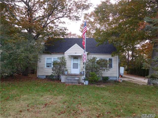 Country Cape. Needs Tlc. 5 Brs, 2 Baths, Living Room With Fireplace, Kitchen, Dining Area & Family Room. Full Basement. Detached 1 Car Garage. Deeded Water Rights.