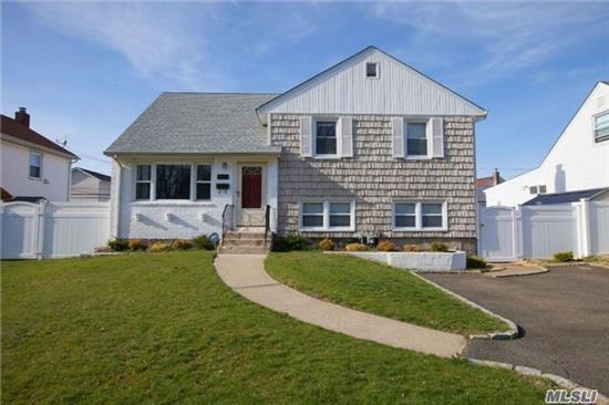 Beautiful 4 Bedroom, 2 Full Bathroom Split Level Home In Wantagh. The Main Level Has A Large Living Room, Formal Dining Room, And Eat In Kitchen. The Lower Level Has A Huge Den With Fireplace, Washer Dryer, And Full Bathroom. The Upper Level Has 4 Bedrooms, Full Bathroom And Attic. New Furnace