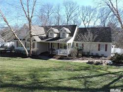 Contemporary Lg. Ranch In The Villages At Wading River, Room For Expansion, Beautiful Pool W/Waterfall, Paver Patio, Close To Beaches, Shopping, Vineyards. Move-In Condition, 3 Br's, Great Rm., Eik, Mudrm, Full Basement W/ Walk-Out Sliders To Backyard Taxes Are Being Grieved!!!!!