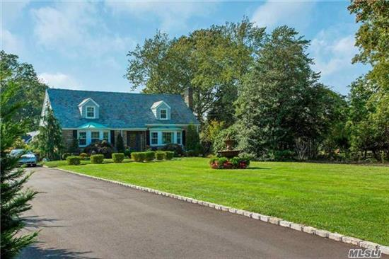 Stunning Waterfront Farm Ranch, Over 4000 Sq Ft! Shy 1 Acre.Brand New Everything Detail Overlooked!5 Br, 3Fbth, Flr W/Fp, Fdr, Eik W/Ss Appls & Carrera Marble Counter, Butler's Pantry, Servers' Kitchen, Great Rm W/Fp Is Flooded W/Sunlight. Entertainer's Bkyard, Stone Patio W/Pergola, Kidney Shaped Ig Pool, Pool House, 1080 Sq Ft Boathouse, & Western Sunsets W 100' Blkhd.