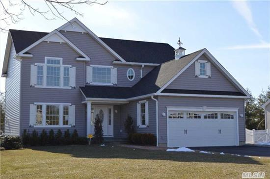 Brand New Colonial In Harborfields Sd #6. Quality Construction Throughout W/Attention To Detail. Features Include 4 Bedrooms, 2.5 Baths, Lr W/Fireplace, Formal Dr, Eik W/Breakfast Room, Custom Cabinetry, Stainless Steel Appliances, Silestone Countertops, Cac, Igs, Oak Flooring.