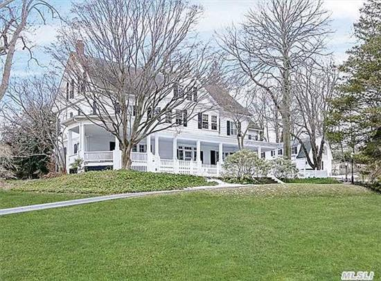 Fabulous Grand Home On 1.5 Acres- Winter Waterviews; Igp, Wrap Around Porch; French Doors; Old World Architectural Details. Guest Cottage And 2.5 Car Garage.