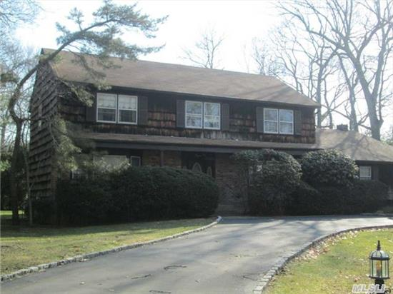 Spacious Colonial W/ Additional Over Sized Great Room, Guest Room Off Kitchen. Hardwood Floors Through Out. Central Air,  Young Gas Burner. Mid Block Location,  Perfectly Situated On A Flat 1 Acre W/ In Ground Pool Taxes W/ Basic Star $15, 920.25 Desirable Hhh School District