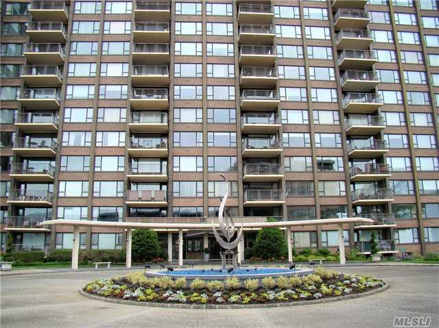 Luxury High Rise Gated Community W/Drman Oversized & Sunny Excellent Cond Apt W/Hardwd Flrs Thru-Out, Foyer, Spac Lr W/Terrace Views Water & Bridge, Fdr, Eik, Mbr/Walk In Closet & Mba, 2nd Bedrm W/Walk In Closet & F Ba. Building Offers Gym, Heated Pool, Playground, Club Rm, Storage No Extra Cost. Indoor Pking Avail & Laundry Rm Every Flr. Star Tax Rebate Approx $1494.36 Annual