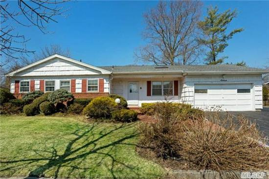 New! East Birchwood Syosset Schools!Hard To FindExpanded Ranch On Cul-De-Sac W/ 3 Bdrms & 2.5 Baths! Great Location! Bright, Open Layout With Lvrm, Fdrm, Enlarged Family Rm, Eik, Leading To Master Bdrm W/ Fbth, 2 Bdrms, 1.5 Bths & Laundry Rm. Full Basement W/Storage And More! Wonderful Landscaped Lg Backyard!Robbins Ln Elem, Southwood Middle. Close To All Transp!Won't Last!