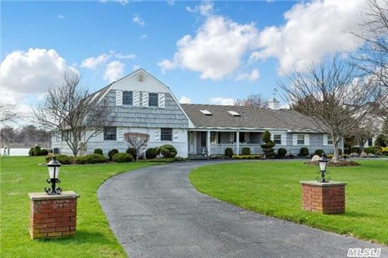 Waterfront, The Moorings, Location, Location, Elevation! 1 Of 8 Sought After Homes On Champlins Creek! Sprawling 5000Sqft. 2 Story Farm Ranch, W/ Large Cut In Boat Slip,  Set On 1.1 Acres, 5 Brm, 4.5 Bath, Semi Enclosed Pool W/ Pool House. West Coast Sunsets, Overlooking Wild Life Preserve On A Natural North American Aquatic Fly Way.Gated, Association Tennis And Marina.