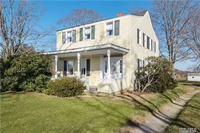 Historic And Charming 1820'S Farmhouse Compound Featuring A 2 Story Barn With Lofts, Garage And Outbuildings That Speak To Days Gone By. The Ultimate In Classic Simplicity Translates Into A Fading Opportunity To Put Your Own Mark On Southold. Preserved Scenic Vistas Included At No Extra Charge!