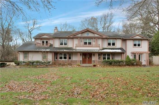 Great Price Drop For Large House! Expanded Colonial With Hamptons Style Siding And Paver Driveway! Room For Everyone! 6 Br, 4 Bath With Guest Quarters W/ Sliders To Porch & Patio! Updated Gourmet Kitchen W/ 6 Burner Stove! Updated Baths! Den W/ Fireplace & Surround Sound! Mbr W/ Double Sided Fireplace, Terrace, Wic & En-Suite! New Paver Driveway & Patio! Cac, Igs Otsego, Candlewood & Hs West Taxes Have Been Reduced For 2019!