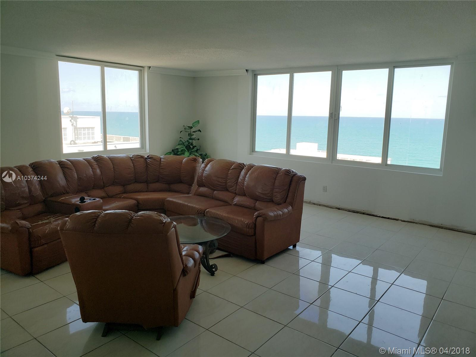 Spectacular Direct Ocean & Intracoastal Views From This Large 3 Bedroom With The Potential To A 4 Bedroom, Now A Large Formal Dinning Room, Spacious Living Room And Bedrooms, 2 Bath, Ceramic Floors, 2 Enclosed Balconies, Lots Of Closets, Good Condition. Oceanside Building, 24 Hrs. Security, All Amenities Included In Maintenance, Gym, Tennis Court, Social Room, Restaurant, Mini-Market, Dry Cleaning And More!  *** Electric, Water & Basic Cable Included *** Building Is Under A Complete Restoration Project Including New Windows *** Special Assessment Paid By Seller At Closing ***