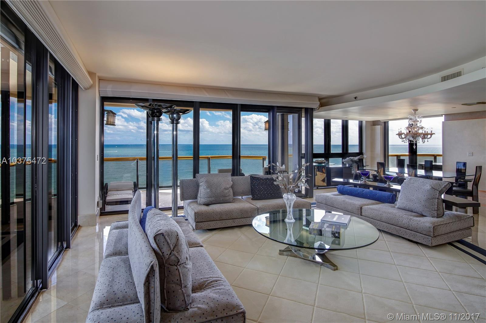 Breathtaking Direct Ocean Views Are A Signature Feature Of This North- East Corner Residence Nestled On The 11 Floor Of The Premier Ocean Front Bal Harbour Tower. Three Terraces Perfectly Appointed To Relax And Enjoy Spectacular Beach And Ocean Panorama. Accessed By Private Elevator This 3, 500 Sq Ft Apartment Features 2 Bed, 4.5 Bath Plus Den Which May Be Used As Convertible 3Rd Bedroom With Murphy Bed. Conveniently Separated Staff Quarters. Spacious Master Suite With His And Hers Marble Adorned Baths And Two Large Walk Ins Closets. Marble And Parquet Floors. A Choice Location Building Within Walking Distance To Bal Harbour Shops Offers Top-Notch Services Including Renowned Private Restaurant, Concierge, Pool & Beach Service, Fitness & Valet.