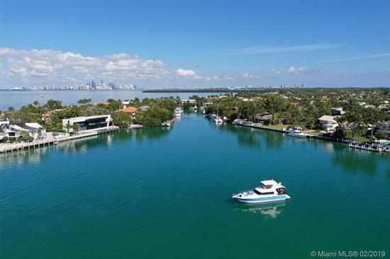 A Very Special Waterfront Home (105 Waterfront Feet) Located In Protected Hurricane Harbor, With Large Dock That Takes Your Boat Directly Into Biscayne Bay With No Bridges. Beautiful Pool Area Surrounded By Trees For Privacy. Short Quiet Street, Wood Floors And Open Concept With Vaulted Ceilings. Fireplace. Split Bedrooms. 2 Car Garage.