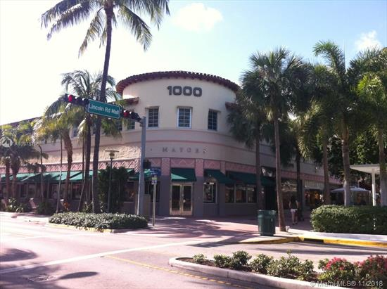 If You Are Looking For A Small Office Space In A Great Boutique Deco Building, Look No Further. Private Office Within Shared Office Suite. Terrazzo Floors, Impact Windows, Kitchen Area And 24-Hour Access. Building Is Located Directly Across The Street From Apple, Gap And Nike On Lincoln Road. $750 Per Month Plus Tax. Call Listing Agent For Additional Details.